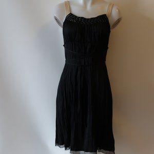 ELIE TAHARI CORD SILK BLEND EMPIRE WAIST DRESS 4